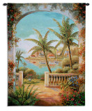 Tropical Terrace II Wall Tapestry by Vivian Flasch