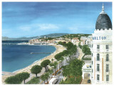 Cannes Print by Gerard Malon