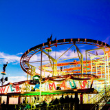 Fairground Ride Photographic Print by Johannes Henseler