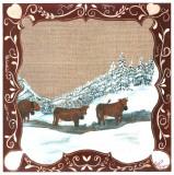 3 Vaches dans la Neige Posters by Nathalie Renzacci