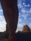Silhouette of Tall Rock Column, Arches National Park, Utah, Usa Photographic Print by Alex Adams