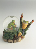 Close-Up of a Frog's Figurines with a Snow Globe Photographic Print