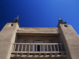 Upward View of Old Mission Style Church, New Mexico, Usa Photographic Print by Alex Adams