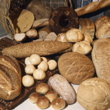 High Angle View of Various Type of Breads Photographic Print by P. Martini