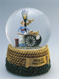 Figurine of Molly Malone Statue in a Snow Globe Photographic Print