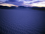 Blue Tinged Sand Toward Formations in the Distance at Sunset, White Sands, New Mexico, Usa Photographic Print by Alex Adams