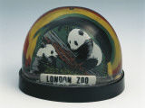 Figurines of London Zoo Pandas in a Snow Globe Photographic Print