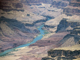 High Angle View of a River Flowing Between Rock Formations, Colorado River, Grand Canyon Photographic Print by L. Romano