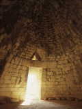 Interiors of a Tomb, Treasury of Atreus, Mycenae, Peloponnesus, Greece Photographic Print by De Agostini
