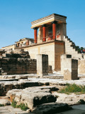 Greece - Crete Island - Knossos - Minoan Palace, Main Entrance with the Tower Guard Photographic Print
