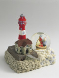 Figurine of a Lighthouse with a Snow Globe Photographic Print