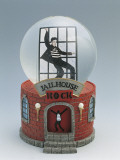 Close-Up of a Figurine of Elvis Presley Dancing in a Snow Globe Photographic Print