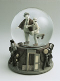 Laurel and Hardy's Figurines in a Snow Globe Photographic Print