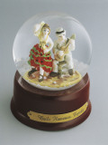 Close-Up of Figurines of Dancers in a Snow Globe Photographic Print