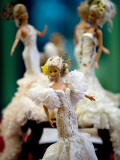 One of the two hundred Barbie dolls dressed in traditional flamenco outfits Fotodruck