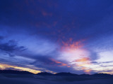 Silhouette of Mountains at Sunset, White Sands, New Mexico, Usa Photographic Print by Alex Adams