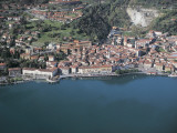 Aerial View of Buildings at the Waterfront, Lake Iseo, Lovere, Province of Bergamo, Lombardy, Italy Photographic Print by G. Gnemmi