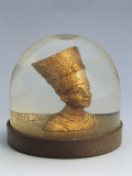Close-Up of a Figurine of Egyptian Queen Nefertari in a Snow Globe Photographic Print
