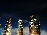5 Glowing Buildings at Night Photographic Print by David Elton
