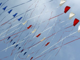Michigan, Grand Haven, Kites Take Flight During a Local Festival Photographic Print by Cory Morse