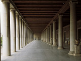 Columns in an Ancient Agora, Stoa of Attalos, Athens, Greece Photographic Print by De Agostini