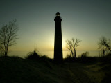 Michigan, Mears, Little Point Sable Lighthouse at Silver Lake State Park Photographic Print by Cory Morse