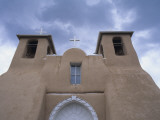 Front of Old Mission Style Church, New Mexico, Usa Photographic Print by Alex Adams