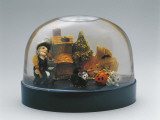 Close-Up of Figurines of Halloween in a Snow Globe Photographic Print