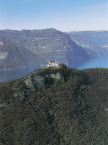 Aerial View of a Town, Monte Isola, Lake Iseo, Province of Brescia, Lombardy, Italy Photographic Print by G. Gnemmi
