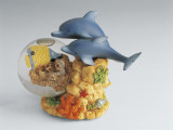 Close-Up of Figurines of Dolphins on a Snow Globe Photographic Print