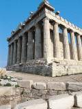 Ruins of a Temple, Parthenon, Acropolis, Athens, Attica, Greece Photographic Print by De Agostini