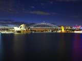 Night View of Sydney Opera House and Harbour Bridge, Sydney Australia Photographic Print by Chris Mclennan
