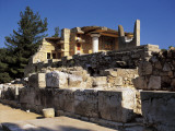 Old Ruins of a Palace, Palace of Minos, South Propylaea, Knossos, Crete, Greece Photographic Print by De Agostini