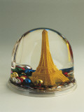 Figurine of Eiffel Tower in a Snow Globe Photographic Print