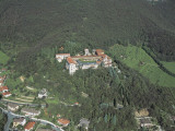 Aerial View of a Monastery, Rodengo-Saiano, Province of Brescia, Lombardy, Italy Photographic Print by G. Gnemmi