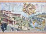 Reconstruction Illustration of the Minoan Palace at Knossos, Photographic Print