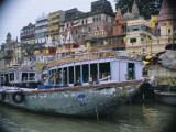 Boats on Ganges River , Varanasi, India Photographic Print by Ami Vitale