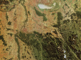 Satellite View of a Landscape, Vienna, Austria Photographic Print by De Agostini