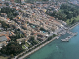 Aerial View of Buildings at the Lakeside, Lake Garda, Bardolino, Province of Verona, Veneto, Italy Photographic Print by G. Gnemmi