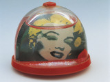 Close-Up of a Figurine of Marilyn Monroe in a Snow Globe Photographic Print