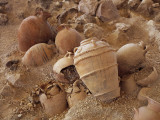 High Angle View of Damaged Amphoras, Akrotiri of Thera, Akrotiri, Santorini, Cyclades Islands Photographic Print by De Agostini