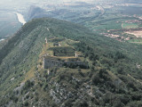Aerial View of a Structure on a Hill, Lagarina Valley, Rivoli Veronese, Province of Verona, Veneto Photographic Print by G. Gnemmi