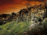 Old Ruins of a Wall, Tiryns Walls, Tiryns, Peloponnesus, Greece Photographic Print by De Agostini