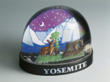 Figurine of Yosemite National Park in a Snow Globe Photographic Print