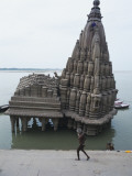 Temple at Ganges River, Varanasi, India Photographic Print by Ami Vitale