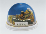Figurine of the Great Wall of China in a Snow Globe Photographic Print