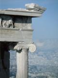 Ruins of a Temple, Temple of Athena Nike, Acropolis, Athens, Attica, Greece Photographic Print by De Agostini