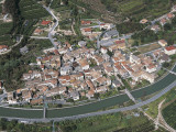Aerial View of Buildings in a Town, Brentino Belluno, Province of Belluno, Veneto, Italy Photographic Print by G. Gnemmi
