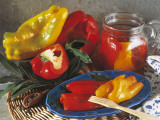 Close-Up of Pickled Bell Peppers Photographic Print by P. Martini