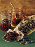 Close-Up of Preserved Blueberries Photographic Print by P. Martini